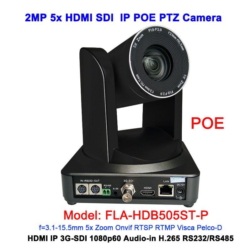 Schwarz Farbe 2MP volle HD 1080 p 5X Professionelle RJ45 POE IP HDMI 3G-sdi ptz kamera für web VC System