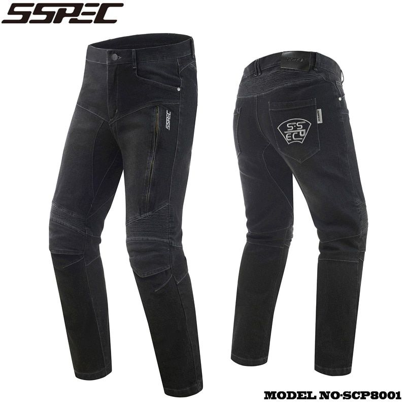 SSPEC Motorcycle Jeans moto Autocycle Protection Pants Motocross Hip protector moto Trousers Racing Knee pads Motorcycle Jean