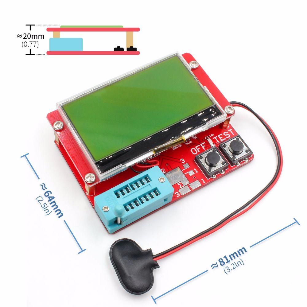 2015 ESR-T4 Mega328 Numérique Transistor Testeur Diode Triode Capacité ESR Mètre MOS/PNP/NPN LCR TESTEUR 12864 écran LCD