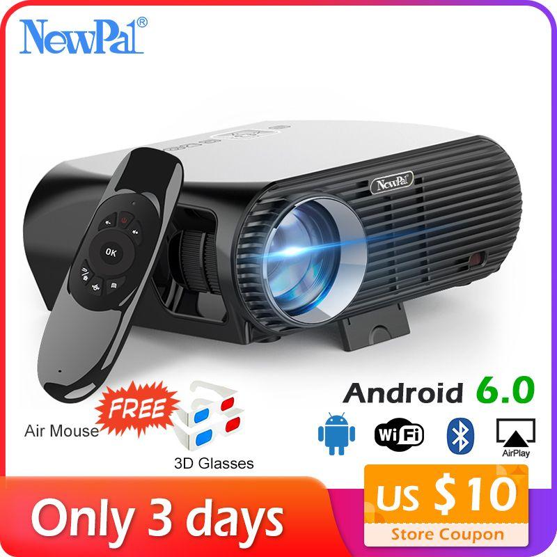 Newpal 3500 Lumen LED Projektor GP100 UP Full HD WiFi Android 4 K Projektor 3D Drahtlose Video Proyectors mit freies 3D gläser