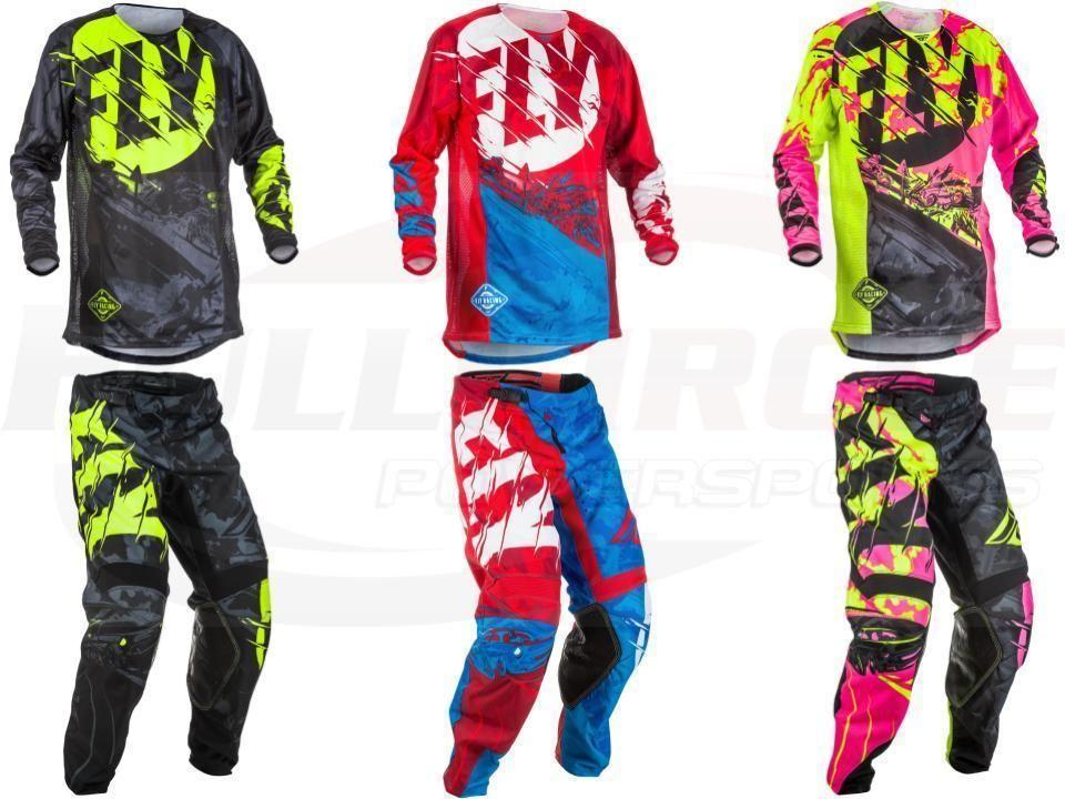 NEW Fly racing Dirt Bike Pants Jersey Combos Motocross MX Racing Suit Cross-country Jersey Pants Motorcycle Motobiker Moto Suits