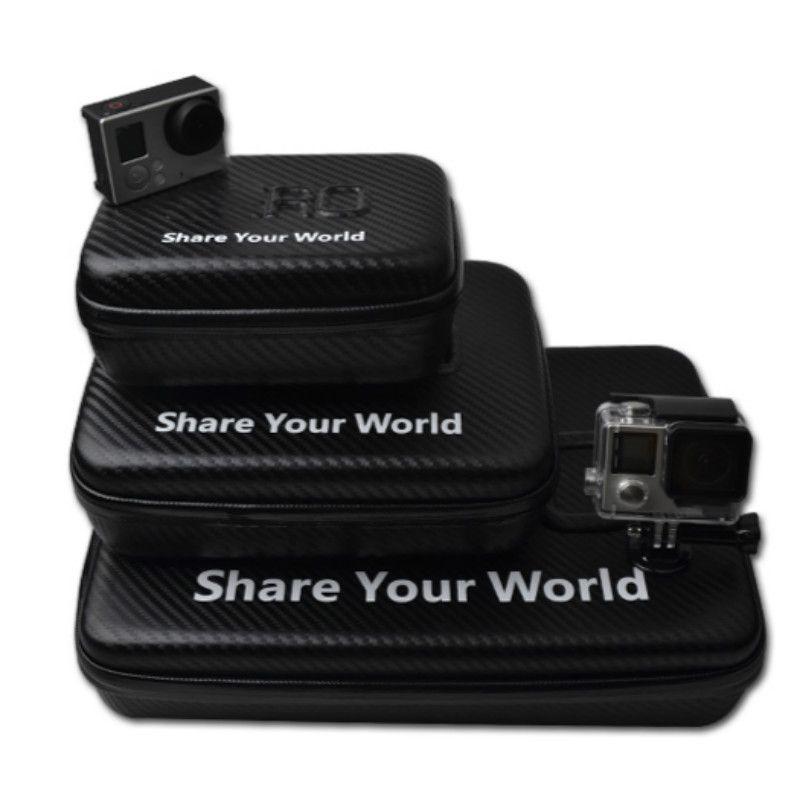Tekcam étui étanche pour caméra de voyage en Fiber de carbone pour gopro hero 4 accessoires pour gopro hero 5/4/3 +/3/2 SJCAM Xiaomi yi 4 K