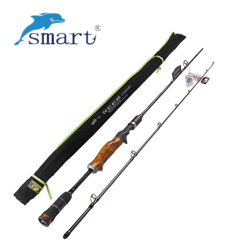 YUANWEI 2 Secs Wood Handle Casting Fishing Rod 1.98m 2.1m 2.4m ML/M/MH Carbon Lure Rods Vara De Pesca Peche Stick FishingTackle
