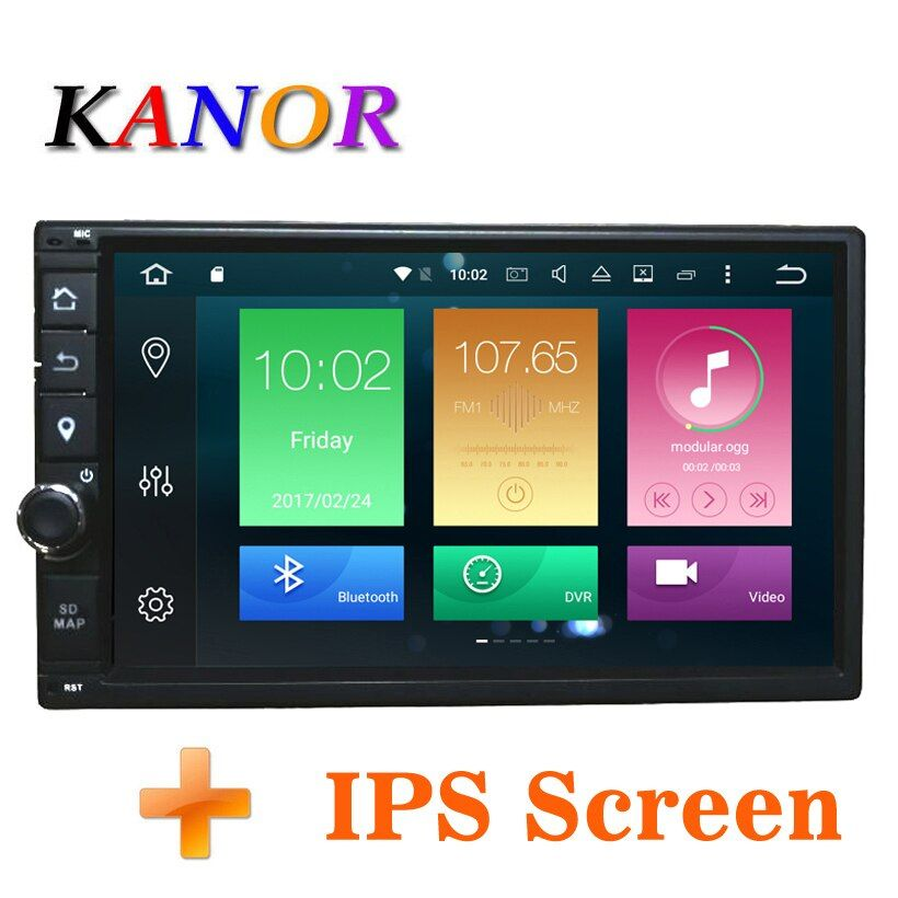 KANOR Octa Core RAM 4G ROM 32G 2 Din Android 8.0 Universal Car Audio <font><b>Stereo</b></font> Radio With GPS WiFi GPS Navigation Video Head Unit