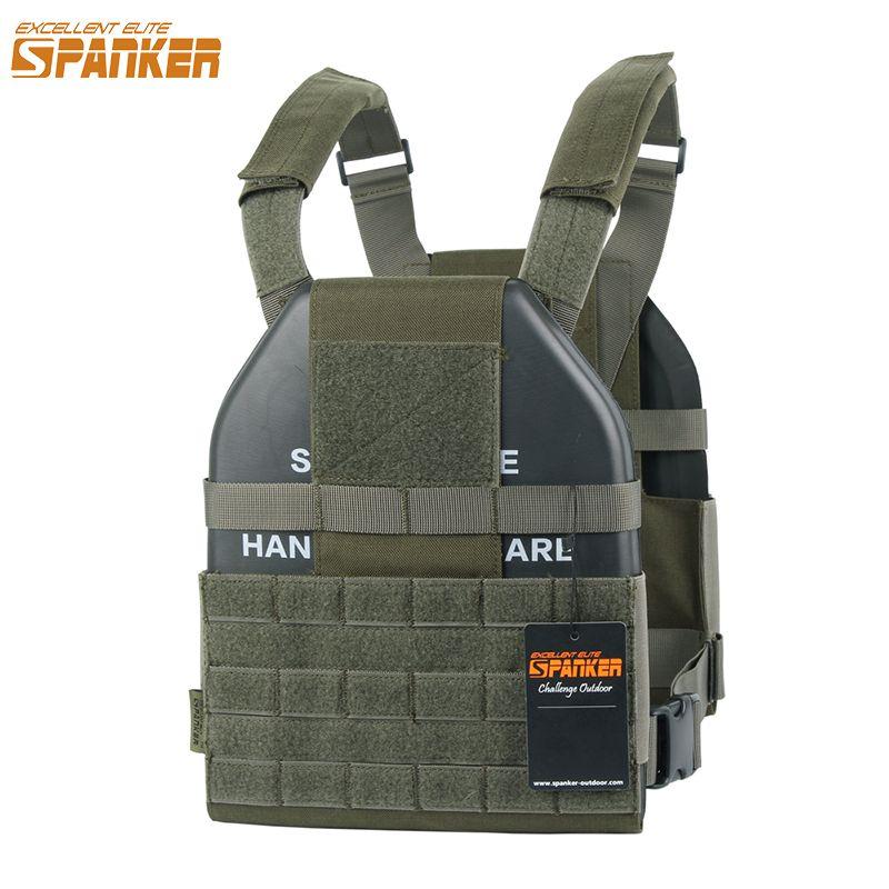 EXCELLENT ELITE SPANKER Tactical Vest Molle Ultra Light Hollow Plate Carrier Outdoor CS Hunting Military Nylon Vest Equipment
