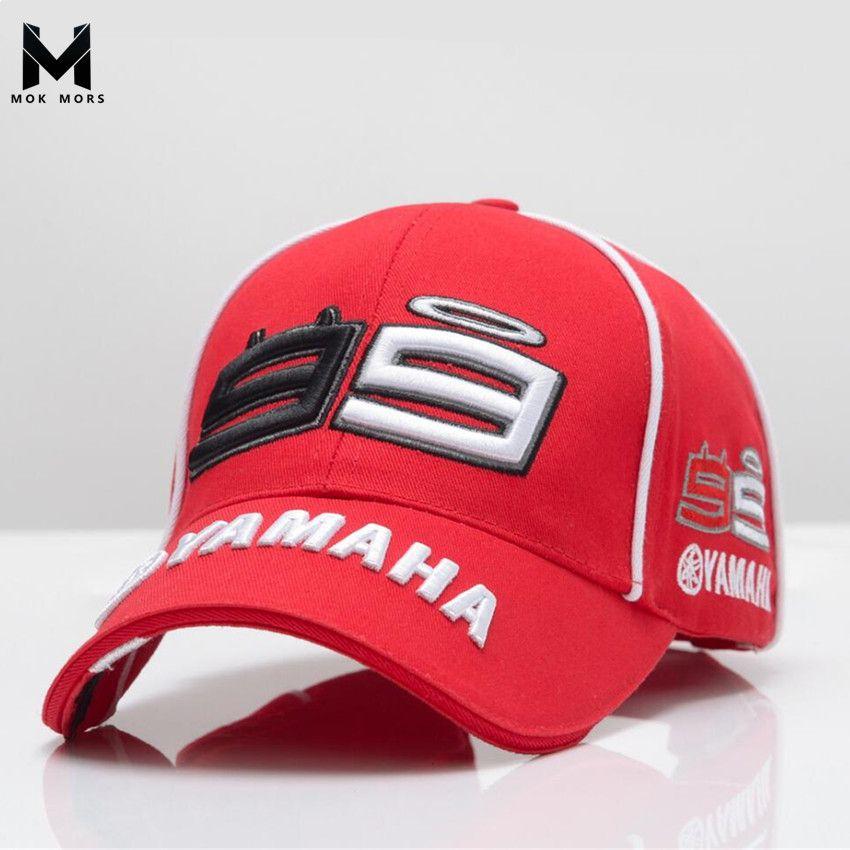 2018 High Quality MOTO GP 99 Motorcycle 3D Embroidered F1 Racing Cap Men Women Snapback Caps Rossi 99 Baseball Cap YAMAHA Hats