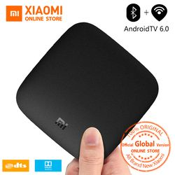 Mondial Version Xiaomi Mi Boîte 3 Android TV Box 4 K 60fps Amlogic Quad core Xiaomi Mi Tv Box 3 Cortex-A53 Mali-450 2 GB 2.4/5G WIFI