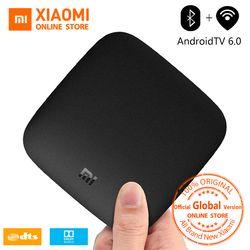 Versión Global Xiao mi caja 3 Android TV Box 4 K 60fps Amlogic Quad core Youtube Google caja Cortex-A53 mali-450 2 GB 2,4/5G WIFI