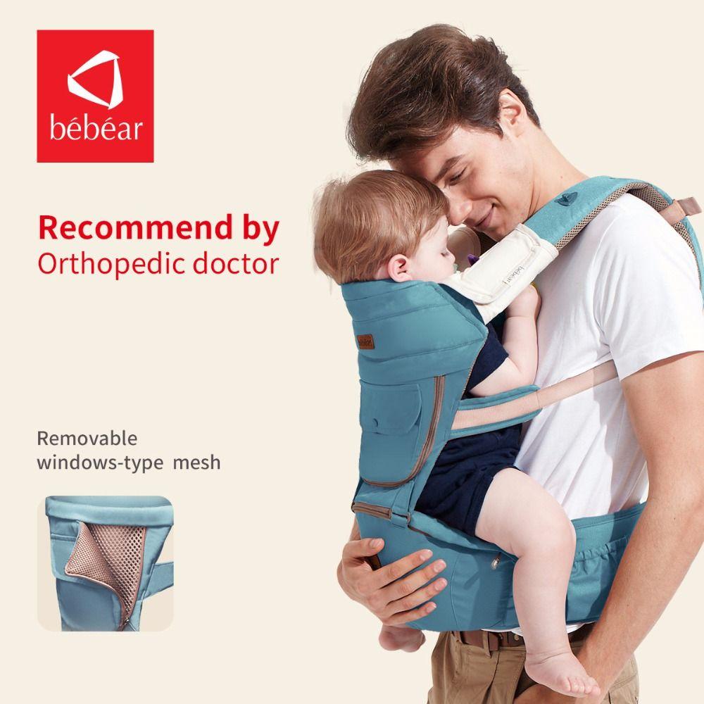 Bebear neue hipseat prevent o-typ beine 6 in 1 tragen stil last 20Kg Ergonomische babytragen vier jahreszeiten speichern aufwand kid sling