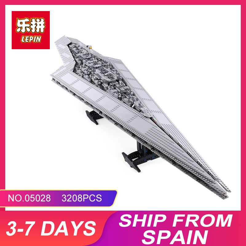 New LEPIN 05028 3208Pcs Toy Execytor Super Star Destroyer Model <font><b>Building</b></font> Kit Block Brick Compatible 10221 Boy Gifts WARS
