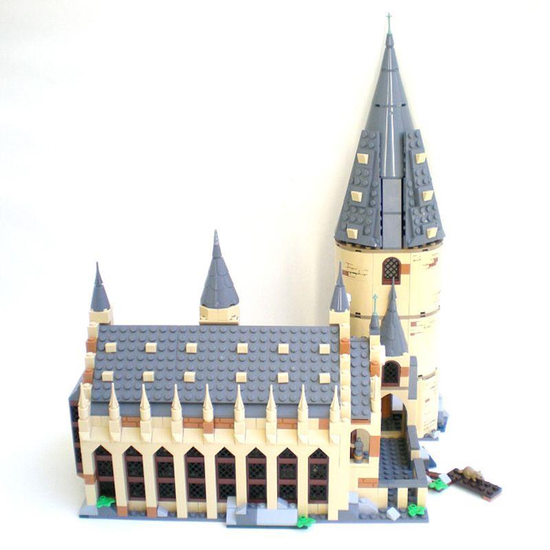 Harri Hogwarts Potter Great Hall Express Castle Building Blocks Bricks DIY Toys for children Gifts Compatible legoINGly 75954
