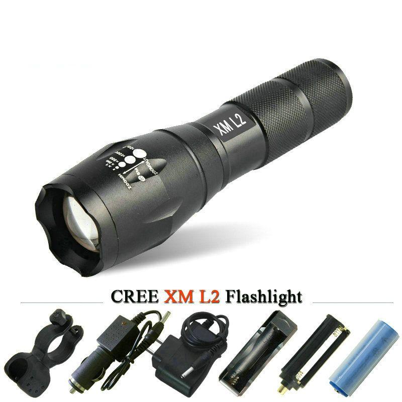 Lampe led rechargeable de haute qualité lampe de poche led cree xml t6 l2 penlight lampe torche étanche 18650 ou 3X AAA