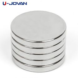 U-JOVAN 5pcs 20 x 3mm N35 Mini Super Strong Rare Earth Fridge Permanet Magnet Small Round Neodymium Magnet