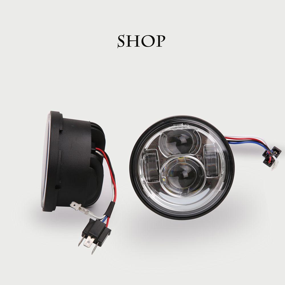 For harley fat bob motorcycle headlights 4.65