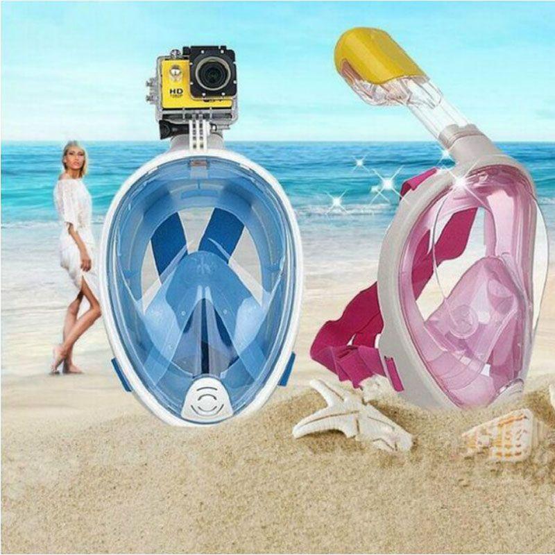 2018 Diving Mask Full face Snorkel Set Anti Fog Underwater Scuba mergulho snorkeling mask For Gopro Camera Swimming Goggles