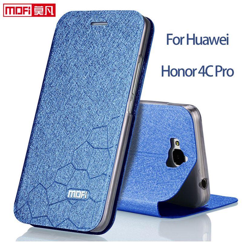 Huawei Honor 4C Pro Huawei Y6 Pro Case пушистый 4 cpro чехол флип чехол роскошные кожаные Huawei y6pro Дело MOFI Fundas Honor 4C Pro