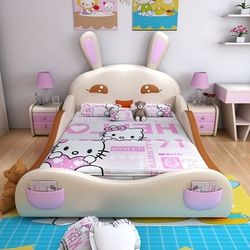 120cmX200cm 4sizes kids bedroom furniture modern queen size double bed frame with 3 colors optional