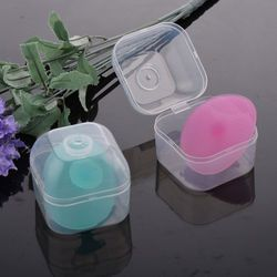 Magique Silicone Oval Comédons sur Le Visage Brosse Bébé Tête Laver Soins De La Peau Beauté Avec la Boîte Nettoyage Pad