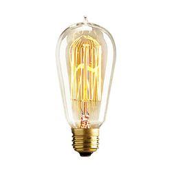 Rétro Edison Ampoules E27 230 V Ampoule À Incandescence 25 W 40 W 60 W ST64 Filament Ampoule Vintage Edison Lumière Pour Pendentif Lampe Fot Café Boutique