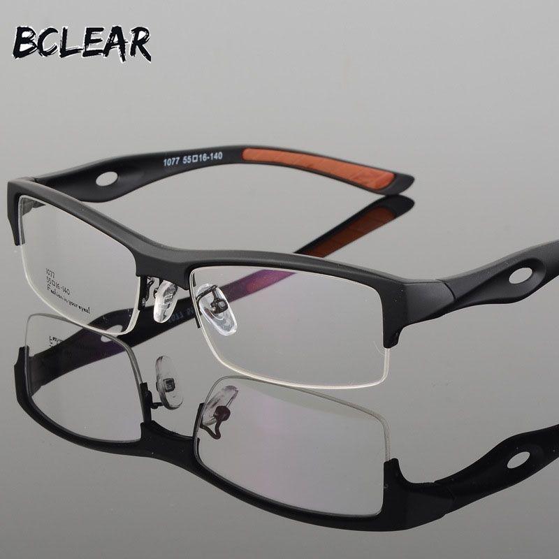 BCLEAR lunettes cadre attrayant hommes Design distinctif marque confortable TR90 demi-cadre carré sport lunettes cadre lunettes