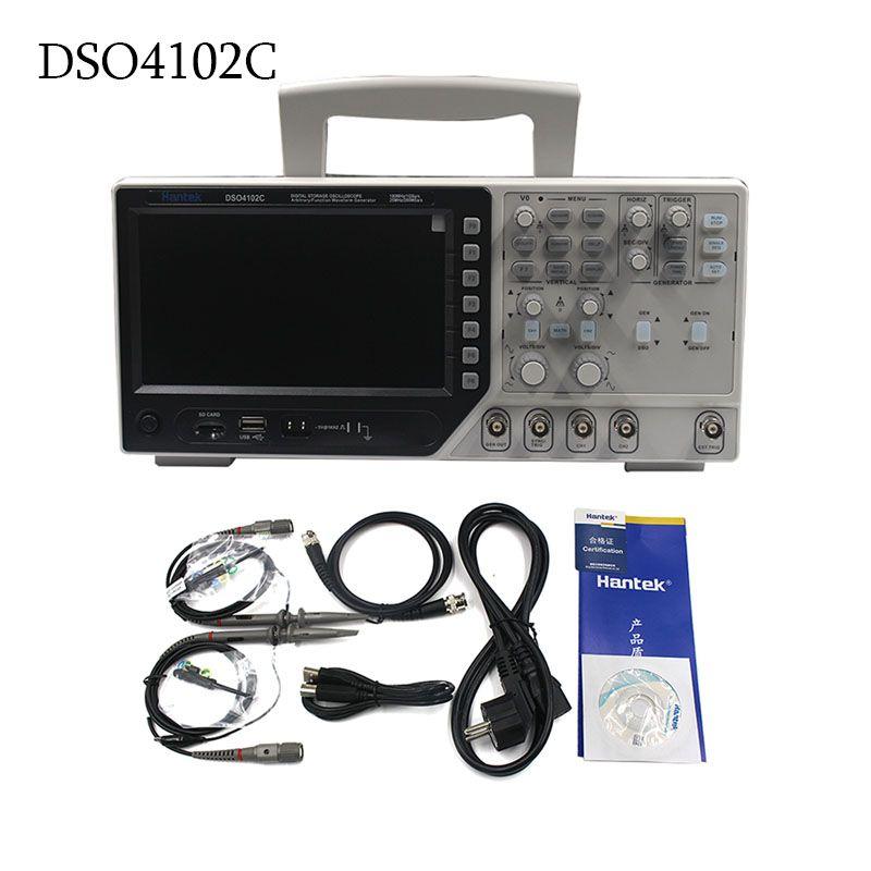 Hantek DSO4102C Digital Multimeter Oscilloscope USB 100MHz 2 Channels 1GSa/s 7 Inch LCD Display Handheld Osciloscopio