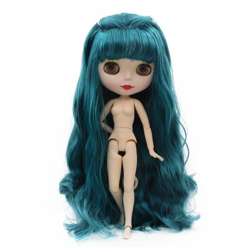 Blyth Poupée BJD Neo Blyth Poupée Nude Personnalisé Givré Visage Poupées Peut Changé Maquillage et Robe DIY 1/6 Balle Articulé poupées