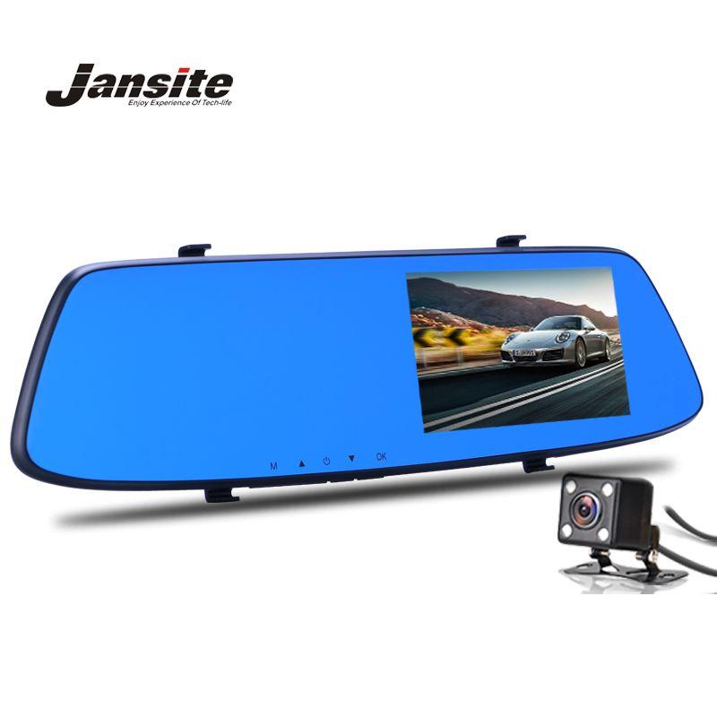 Jansite Night Vision Car Camera Dvr <font><b>Blue</b></font> Review Mirror Digital Video Recorder Auto Registrator Camcorder Dash Cam Full HD 1080P