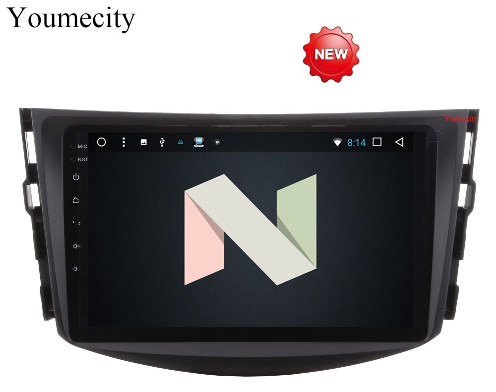Youmecity NEU!!! Android 7.1 auto dvd-player für Toyota RAV4 Rav 4 2007 2008 2009 2010 2011 2 din 1024*600 auto dvd gps wifi rds