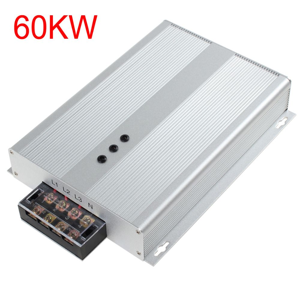 Silver 60KW AC 90-400V Industrial Electricity Saving Box Intelligent Power Energy Saver Box Device with Three Phase