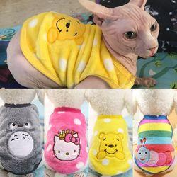 2019 Novos Quentes de Roupas Gato Outono Inverno Roupas Pet para Gatos Coelho Gatinho Roupas Gato Macio Velo Casacos Jaqueta trajes
