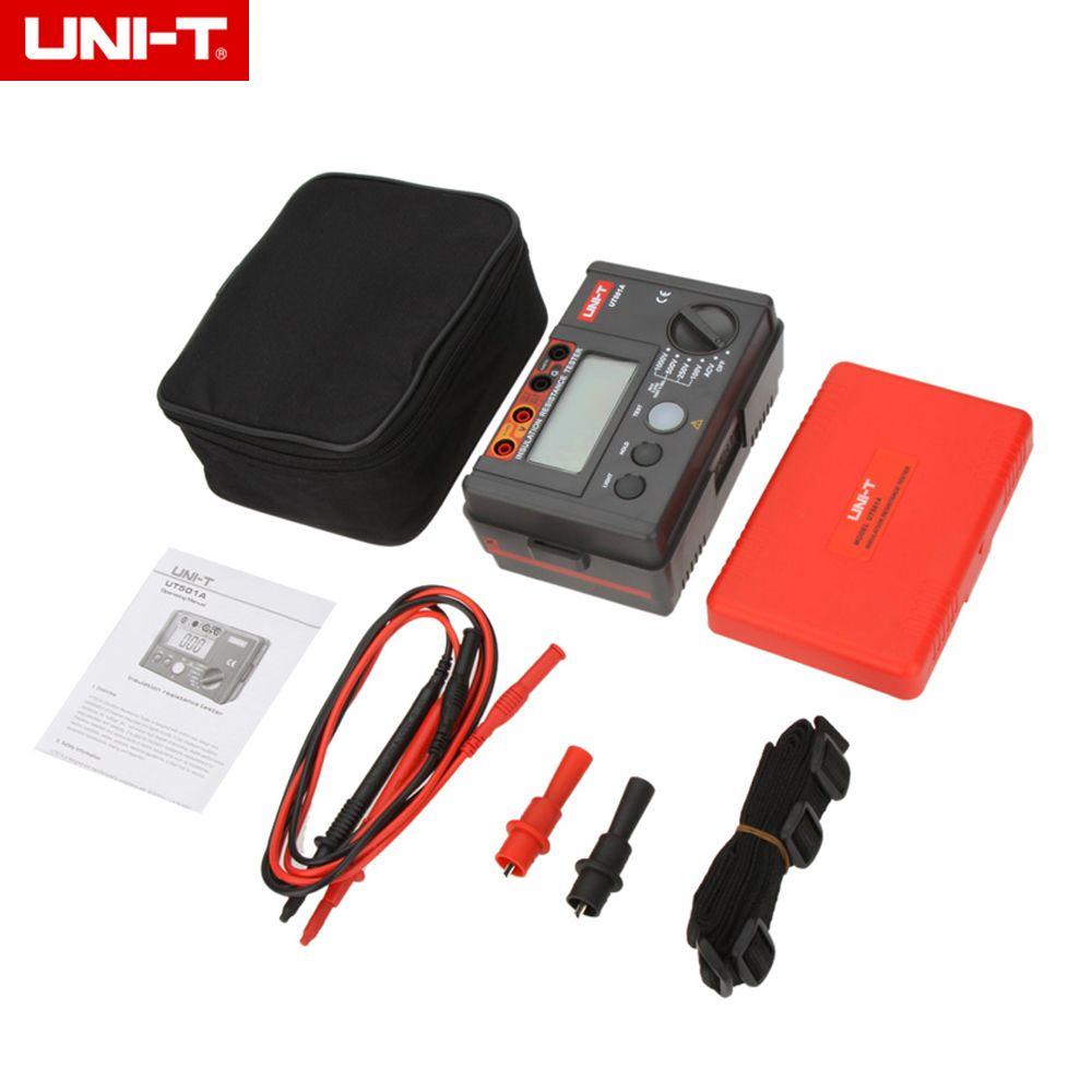 UNI-T UT501A 1000V megger Insulation earth ground resistance meter Tester Megohmmeter Voltmeter w/LCD Backlight