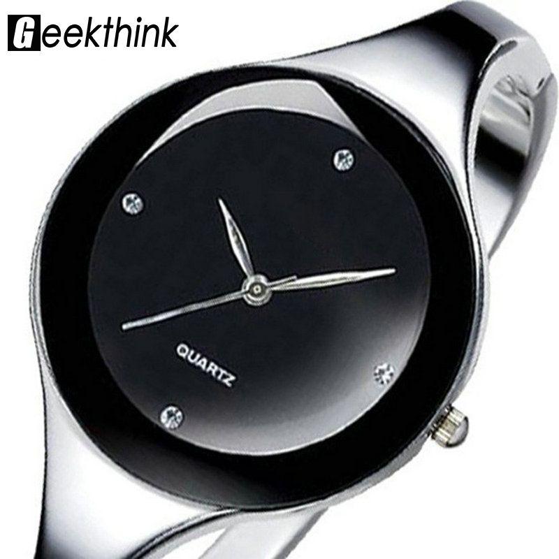 Relojes mujer Reloj de pulsera de acero Inoxidable 2017 Pulsera de Reloj de Cuarzo reloj de Señoras de la Mujer Relojes Mujer Vestido Relogio Feminino