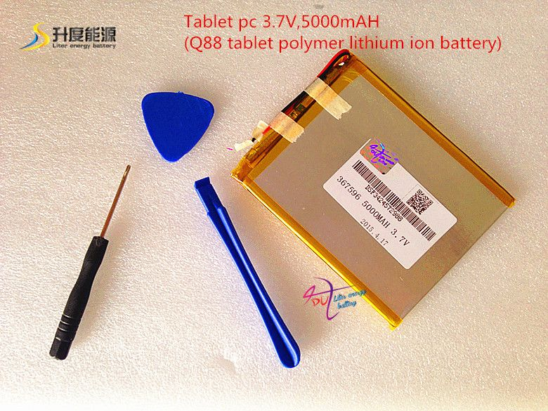 Tablet pc 3.7V,5000mAH (Q88 tablet polymer lithium ion battery) Rechargeable battery for tablet pc 7 inch 8 inch 9inch [367596]