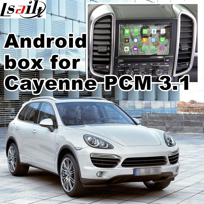 Android 6.0 GPS navigation box for Porsche Cayenne PCM 3.1 video interface box mirror link google play youtube waze google map