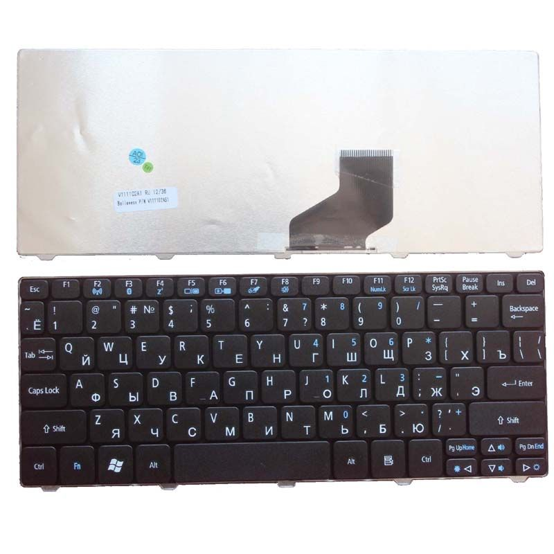 Russian Keyboard for Acer Aspire One D255 D255E 522 D257 AOD257 D260 D270 AOD260 AO521 AO532 AO533 532 532H 521 533 RU Black