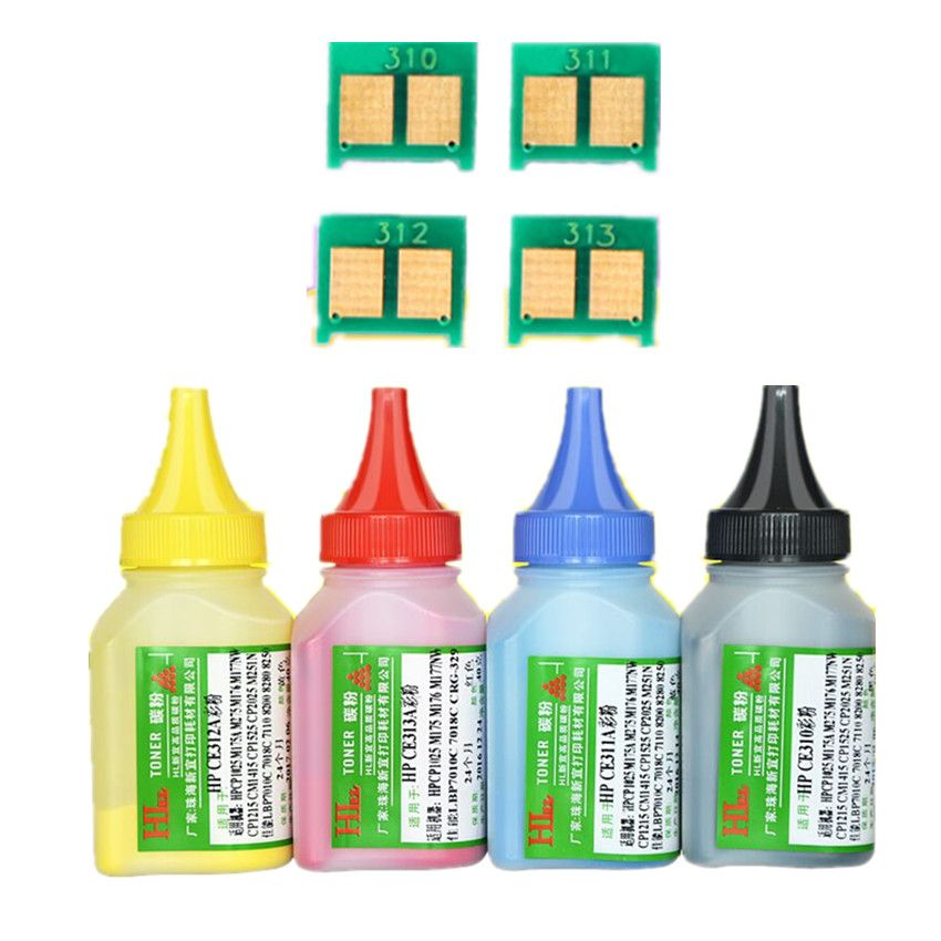 Farbe toner Pulver + 4 chip CF350A 130A CF350 tonerkartusche für HP Color LaserJet Pro MFP M176n MFP M177fw Laser drucker