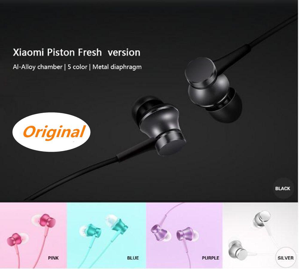 Écouteurs d'origine Xiao mi édition fraîche écouteurs mi Version à Piston intra-auriculaire avec commande de fil mi c Auriculares Xiao mi mi