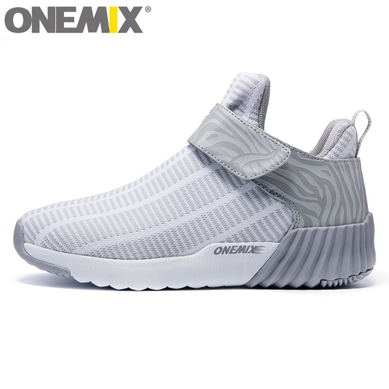 onemix New light Unisex High Ankle Boots Warm Women Running Shoes Outdoor Men Athletic Sport Shoes Comfortable Sneakers