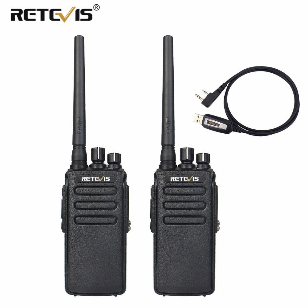 2pcs Retevis RT81 10W Walkie Talkie DMR Digital Radio IP67 Waterproof UHF 400-470Mhz VOX Encrypted Long Range 2 Way Radio+Cable