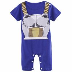 Bébé Garçons Barboteuse Dragon Ball Z Halloween Costume Infantile Vegeta Cosplay Enfant Salopette Nouveau-Né Bebe Goku Super Saiyan Combinaisons