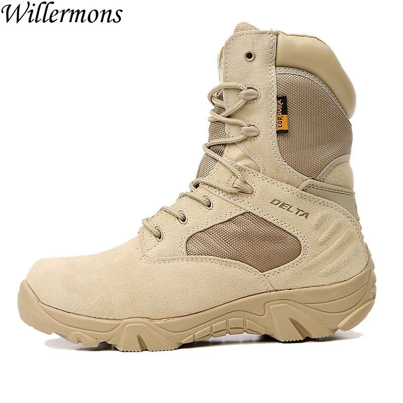 US Force Delta Men's Outdoor Breathable Suede Military Hiking Boots Shoes Men Army Tactical Trekking Sneaker Boots Sports Shoes