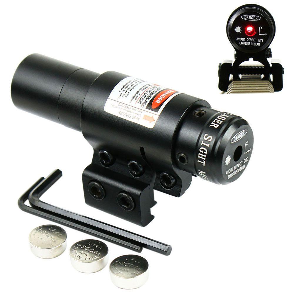 Red Dot Laser Caza Táctico de Airsoft Pistolas de Aire Láser Óptica Francotirador Pistola Punto Rojo Mira Láser 11/20mm Carril Picatinny Láser