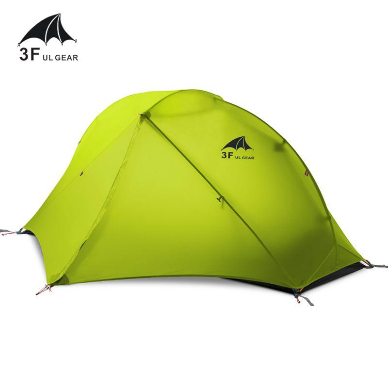 3F UL GEAR Outdoor Ultraleicht Camping Zelt 3/4 Saison 1 Einzigen Person 15D Nylon Silicon Zelt Barracas Para Camping