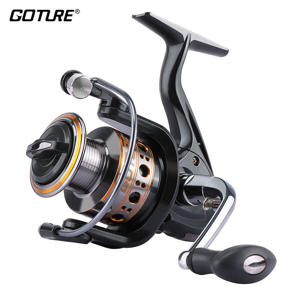 Goture GTV Spinning Fishing Reel Aluminum Spool Spinning Reel Max <font><b>Drag</b></font> 10KG 1000-7000 Series Carp Fishing Wheel Coil