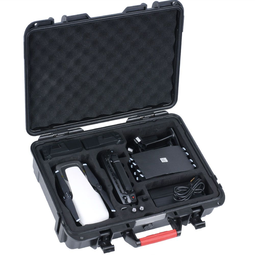 Smatree Portable Hard Carrying Case for DJI Mavic Air/Batteries/Battery charger/Propeller Guard,Waterproof Drone Hard Bag