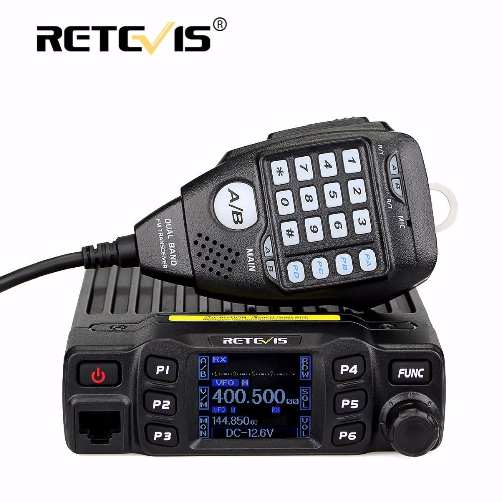Retevis RT95 Car Walkie Talkie Dual Band Amateur Mobile Radio Station 25W 200CH VHF UHF DTMF CTCSS/DCS Transceiver+Speaker MIC