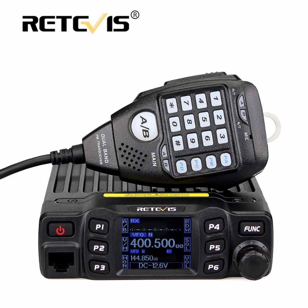 Full Alloy Body Retevis RT95 Dual Band Mobile Car Radio Walkie Talkie 25W VHF UHF 200CH DTMF CTCSS/DCS Speaker MIC+Program Cable