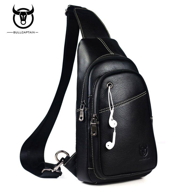 BULL CAPTAIN célèbre marque en cuir de vache hommes poitrine sacs mode voyage sac à bandoulière homme Messenger sac mâle sacs à bandoulière rétro