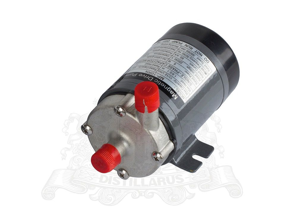 Magnetic Drive Pump stainless steel head MP10 Heat resistance 120 C. Connection 14mm. EURO, US plug