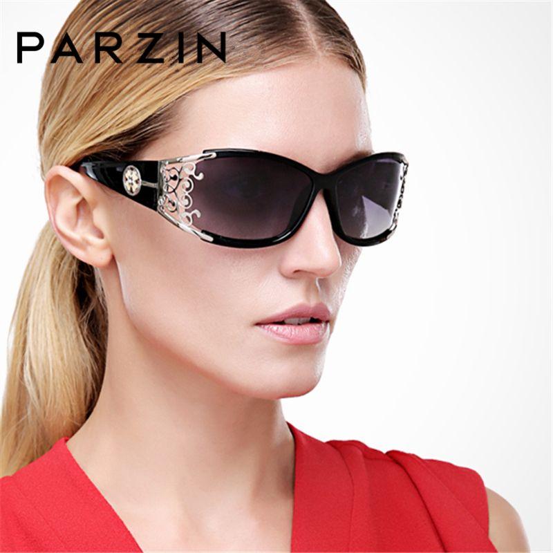 PARZIN 2018 Women Sunglasses Polarized Retro Female Luxury Sun Glasses For Driver Elegant Hollow Lace Spectacles With Case 9218